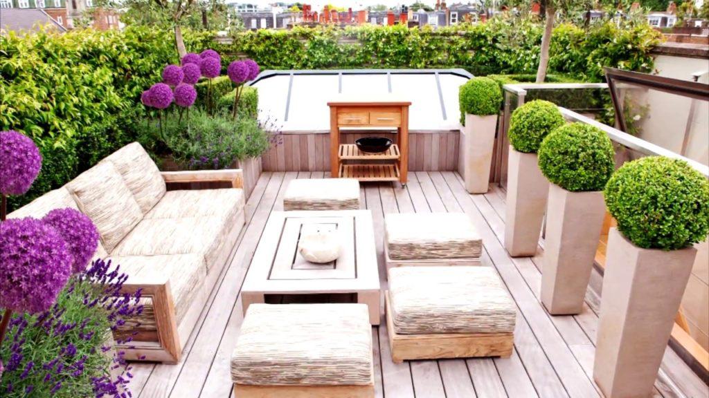 desain roof garden di rooftop